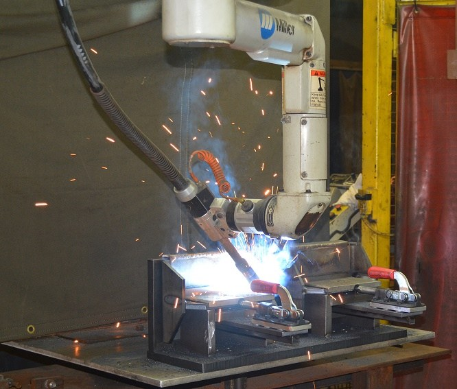 Double H Robotic Welding Lifter Ring Process